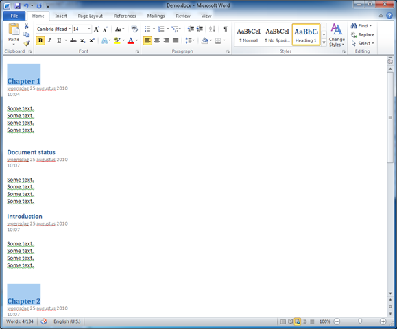 how to create word document with table of contents