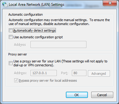 """How to solve """"The configured proxy server is not responding"""