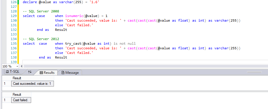 How to validate a value can be cast to an integer in T-SQL ...