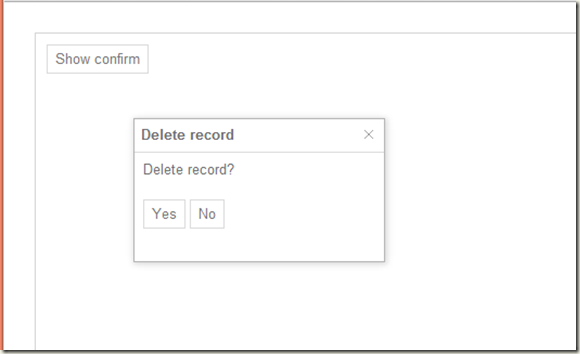 Controlling position of a custom confirm dialog with Kendo UI