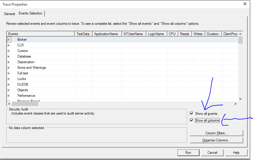 Filter SQL Server Profiler trace to only show queries send by