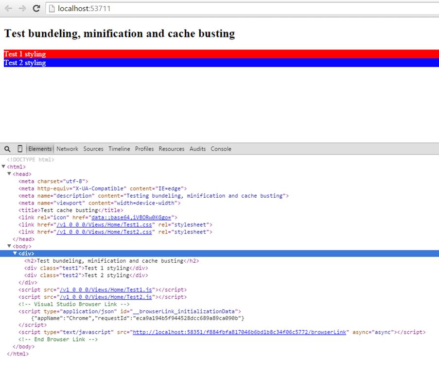 Cache busting / fingerprinting bundles with System Web