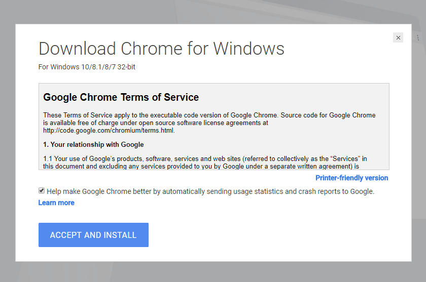 Where to download google chrome for offline installation 32